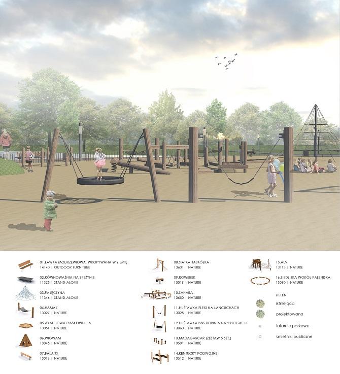 Projekt parku w Kiełpinie Górnym