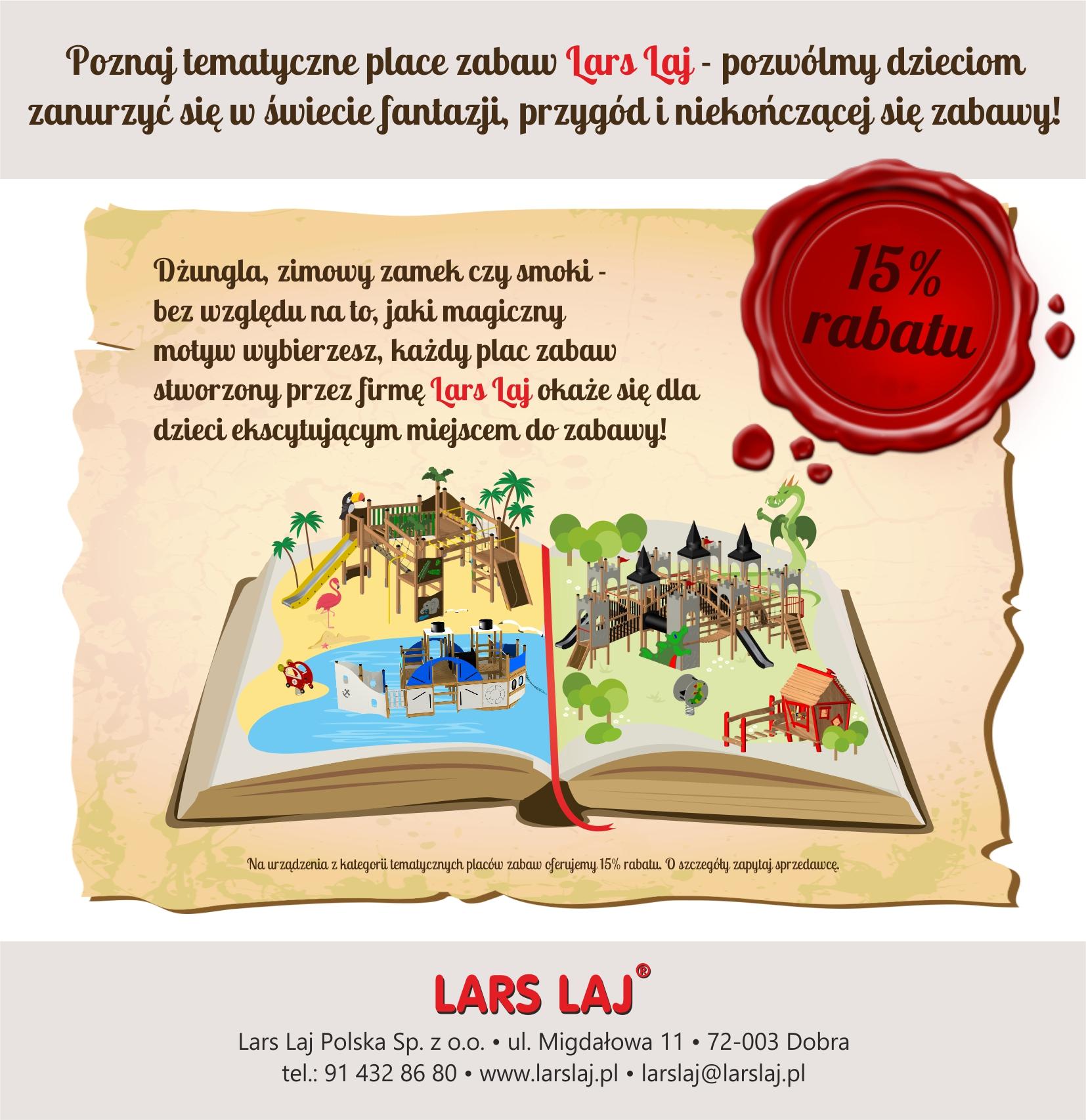 Poznaj tematyczne place zabaw Lars Laj